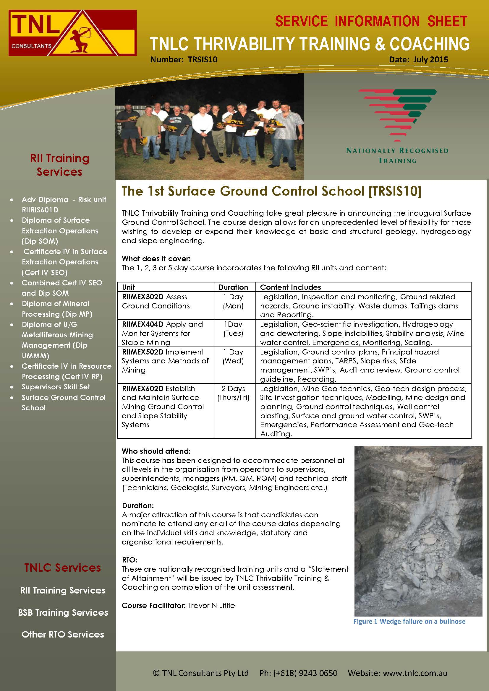 TRSIS10_Surface Ground Control School_July2015v2